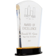 Gold Acrylic Arch Award