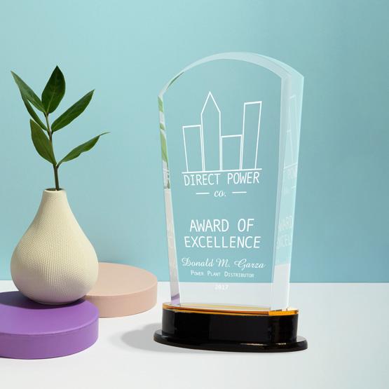 gold arch acrylic awards