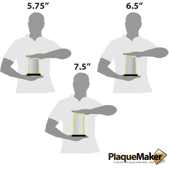 Gold Acrylic Corners Size Guide