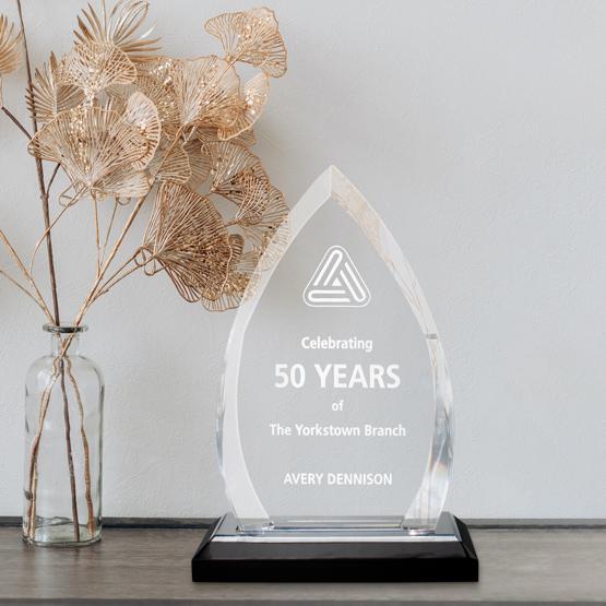Acrylic Award - Silver Crest