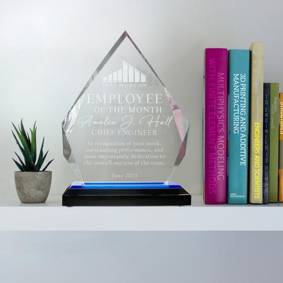 Acrylic Award - Blue Diamond