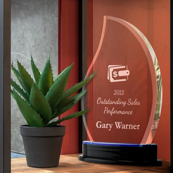 Blue Flame Acrylic Award