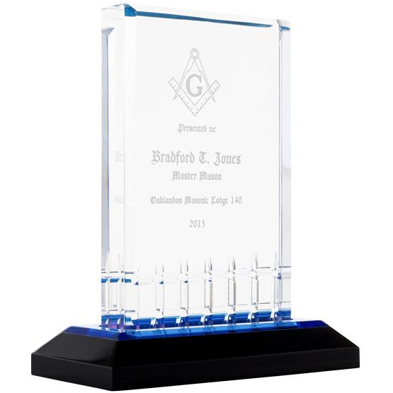 Blue Mirage Acrylic Award