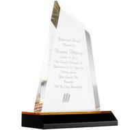 Acrylic Award - Gold Reflective Tow