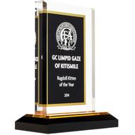 Royal Black & Gold Acrylic Award