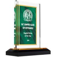 Green and Gold Acrylic Award