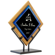 Blue Acrylic on Bamboo Standing Award