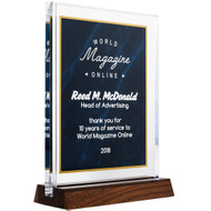 Blue Marble Standing Acrylic Award