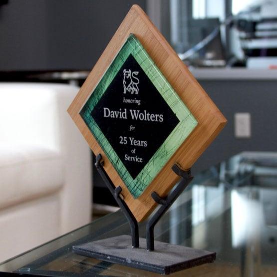 Green Acrylic on Bamboo Award