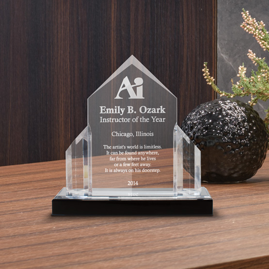 Silver Triple Jewel Acrylic Award