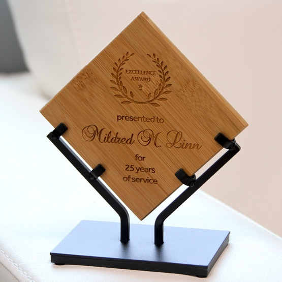 Bamboo Award with Iron Stand