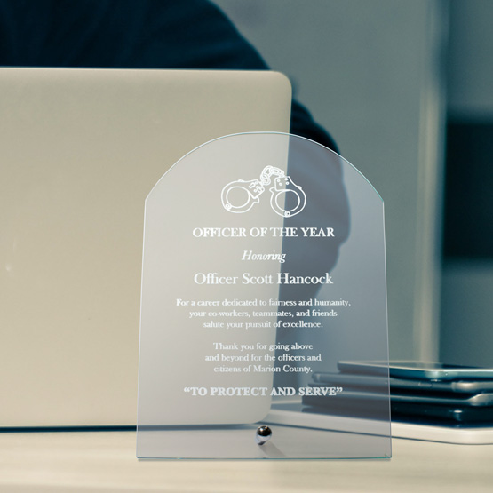 Tombstone Economy Glass Award