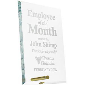 employee of the month glass award