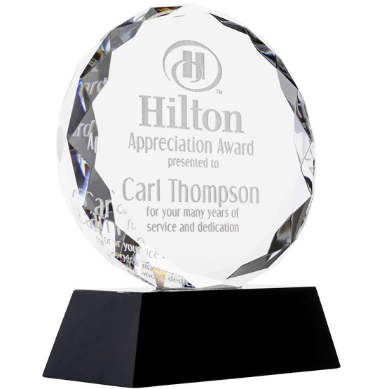 Faceted Glass Circle Award