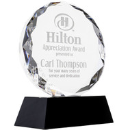 Faceted Circle Glass Award