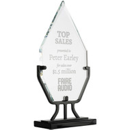 Diamond Glass Award with Iron Stand