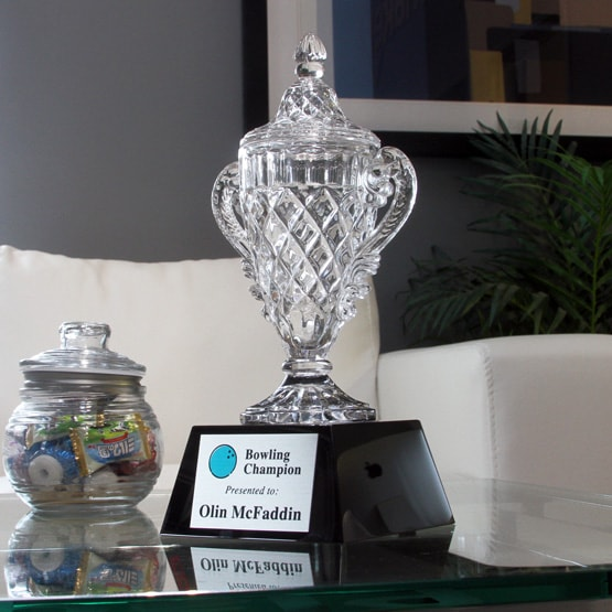 Ornate Crystal Cup Trophy