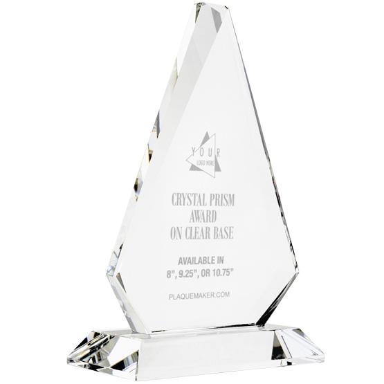 Crystal Prism Award on Clear Base