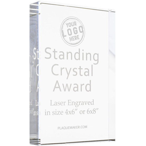 Standing Crystal Award