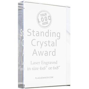 Standing Crystal Award