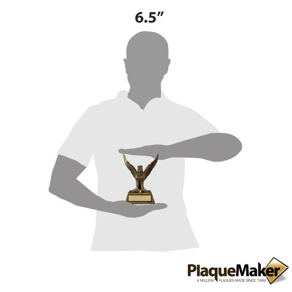 Gold Eagle Resin Trophy Size Guide