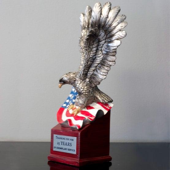 resin landing American eagle trophies