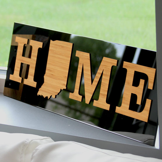 Bamboo on Acrylic State Home Sign