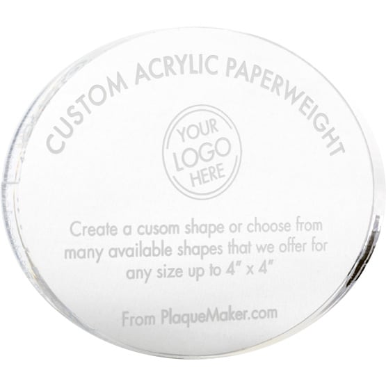 Custom Acrylic Paperweights