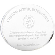 custom shape acrylic paperweight