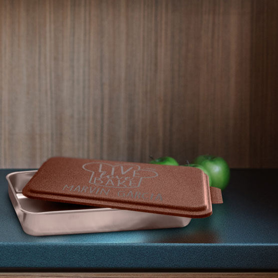 Cake Pan with Copper Lid
