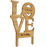 Love Bamboo Cake Toppers