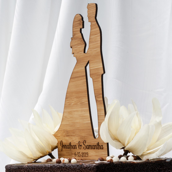 Silhouette Bamboo Cake Toppers