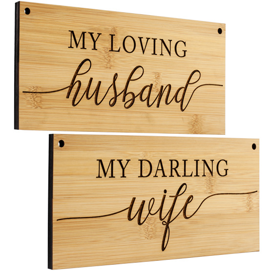 Husband and Wife Chair Signs
