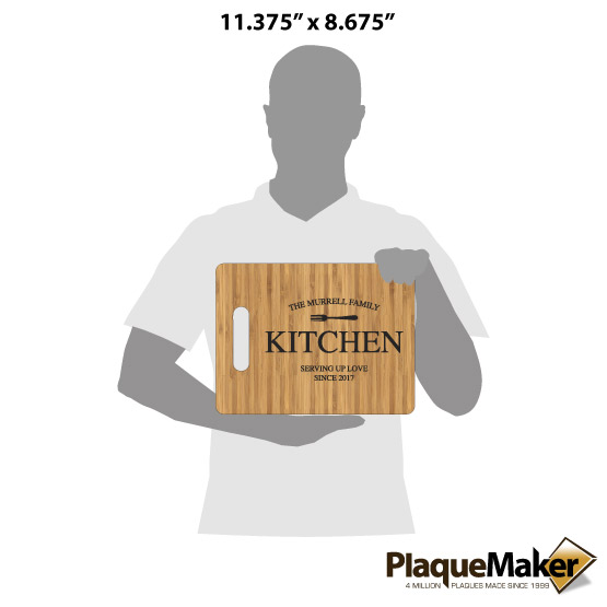 Family Kitchen Cutting Board Size