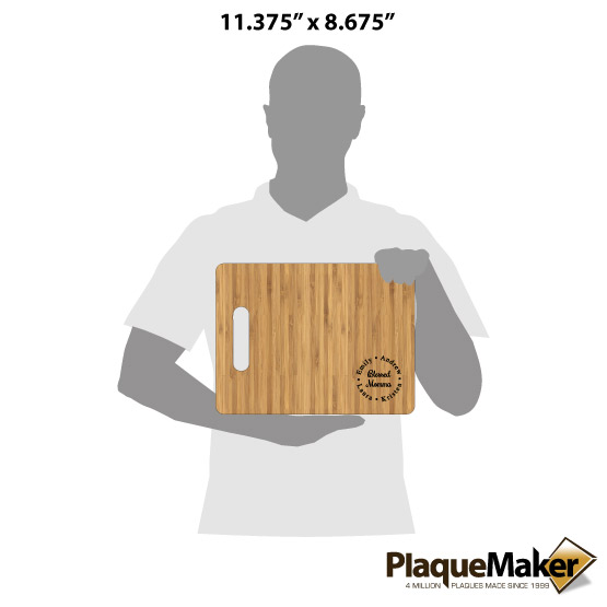 Blessed Mother Cutting Board Size