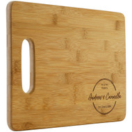 Mr and Mrs Circle Cutting Board