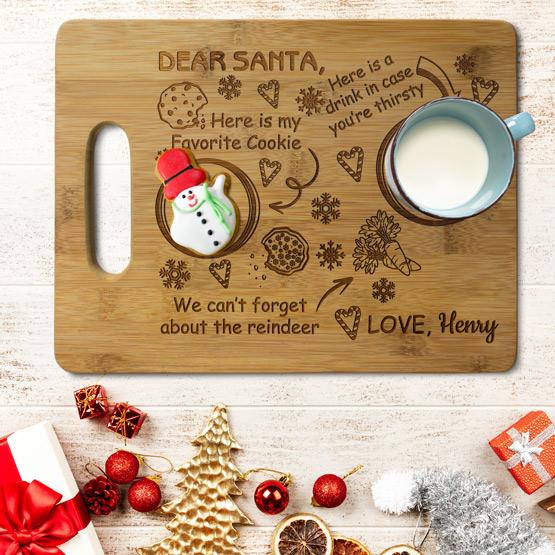 Dear Santa Cutting Board