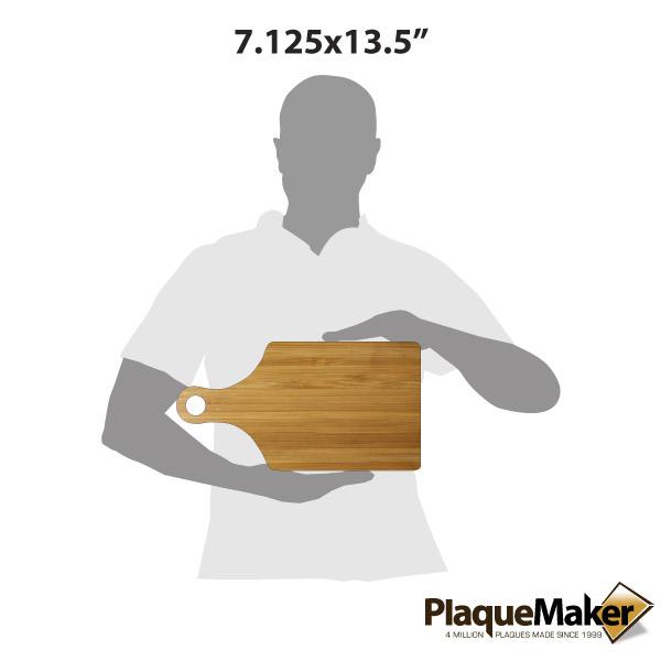 Bamboo Paddle Cutting Board Size Gu