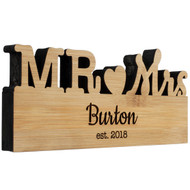 Mr. & Mrs. Table Top Wedding Sign