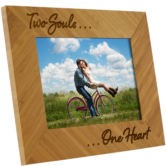 Two Souls One Heart Bamboo Frame