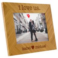"5"" x 7"" I Love Us Bamboo Frame"