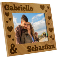Couples Name and Hearts Frame