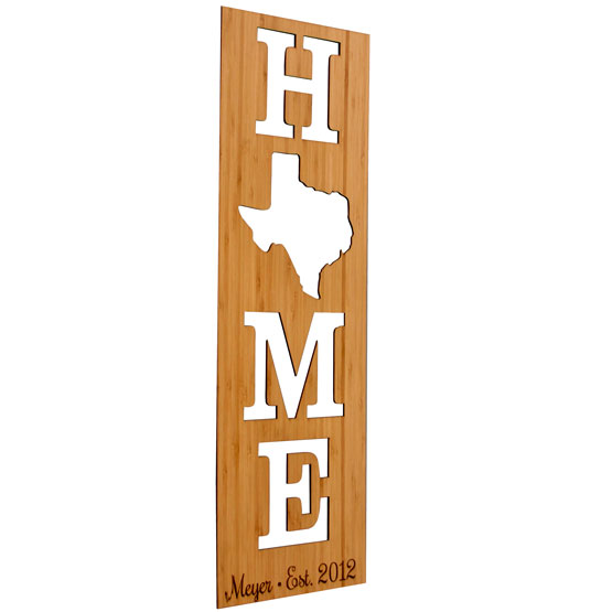 Home Cutout State Sign