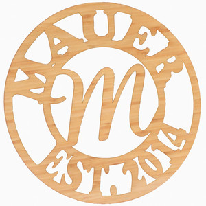 Monogram Bamboo Sign