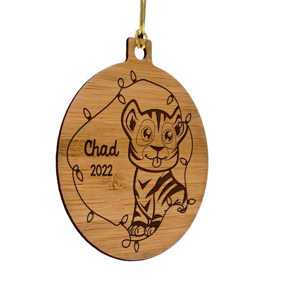 Kids Animal Bamboo Ornament