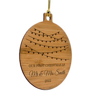 Mr and Mrs Bamboo Ornament