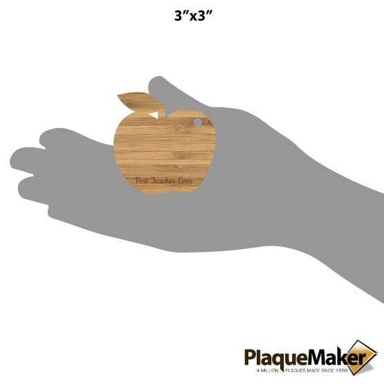 Apple Cutout Ornament Size