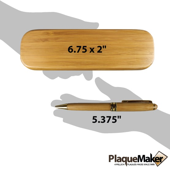 Custom Bamboo Wood Pens Size Guide