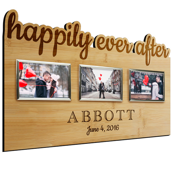 Happily Ever After Bamboo Frame