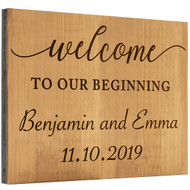 Bamboo Welcome Wedding Sign
